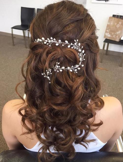 Bridal Curly Half Updo