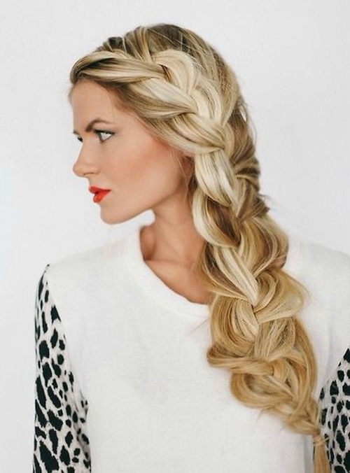 bridesmaid lace braid hairstyle