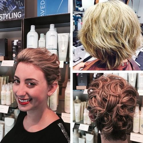 curly wedding hairstyle for shorter hair