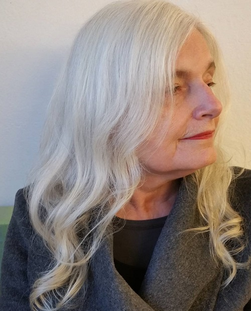 long white hairstyle for women over 70