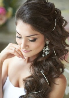 side downdo for brides