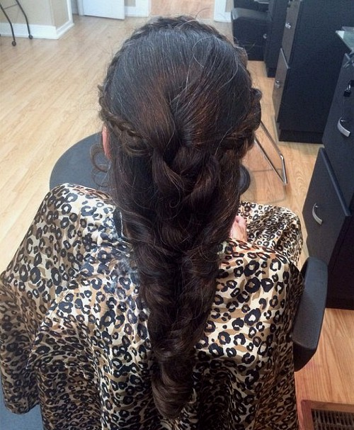 braided hairstyle for brides' mothers