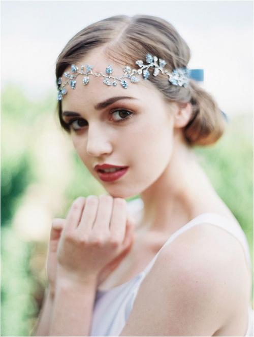vintage bridesmaid updo for thin hair