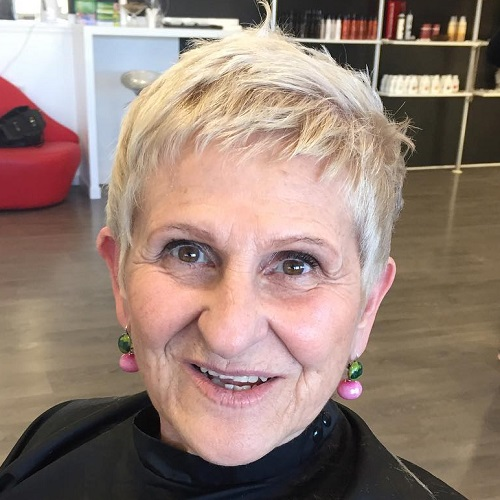 short blonde 'do for women over 70