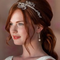 bridal half up half down hairstyle with a bouffant