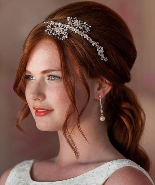 half up half down wedding hairstyles 20 stylish ideas. Black Bedroom Furniture Sets. Home Design Ideas
