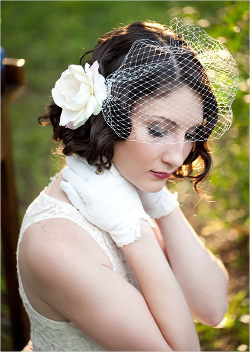 Birdcage Veil For Beach Wedding