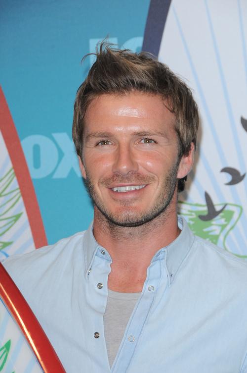 David Beckham short to medium haircut