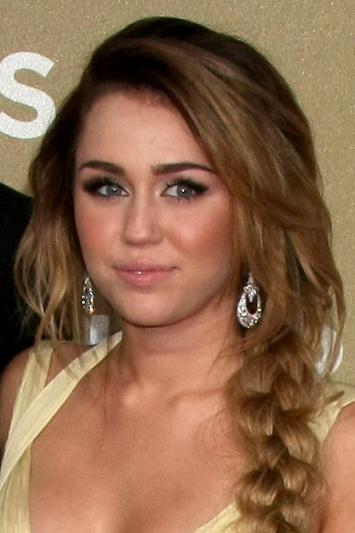 Miley Cyrus long loose braid