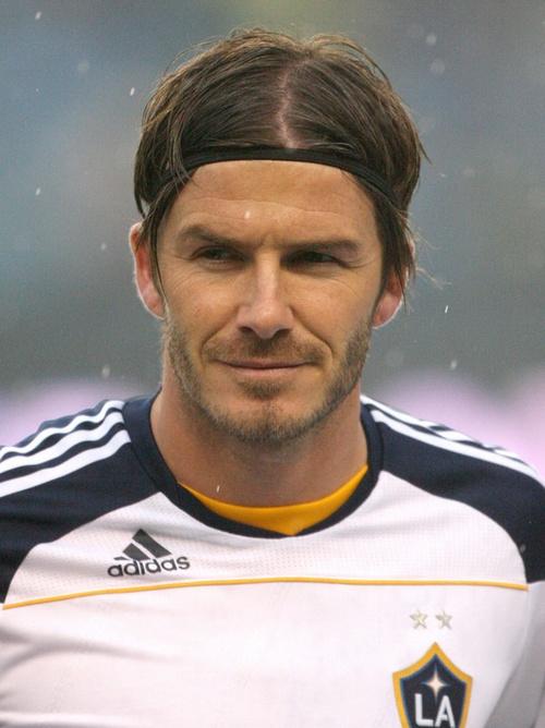 David Beckham medium hair