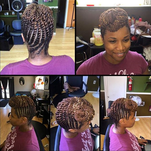 Pleasant 40 Chic Twist Hairstyles For Natural Hair Hairstyle Inspiration Daily Dogsangcom