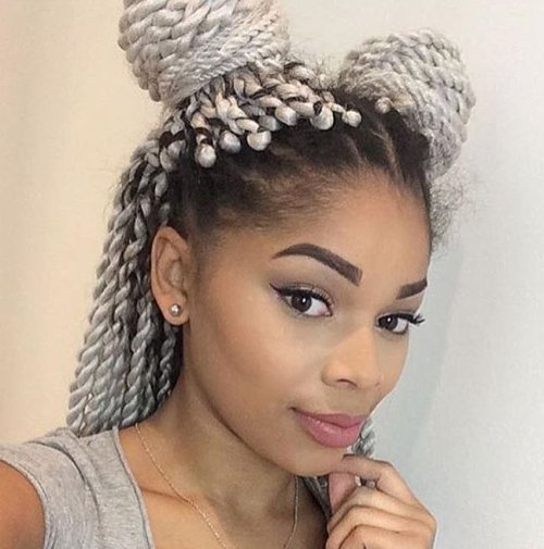 White Twists For Black Hair