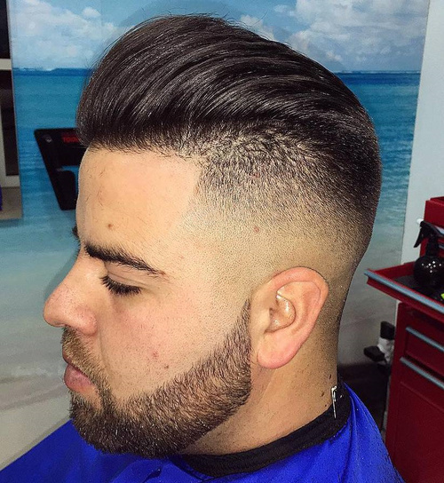 Shaved Sides Hairstyles and Haircuts for Men