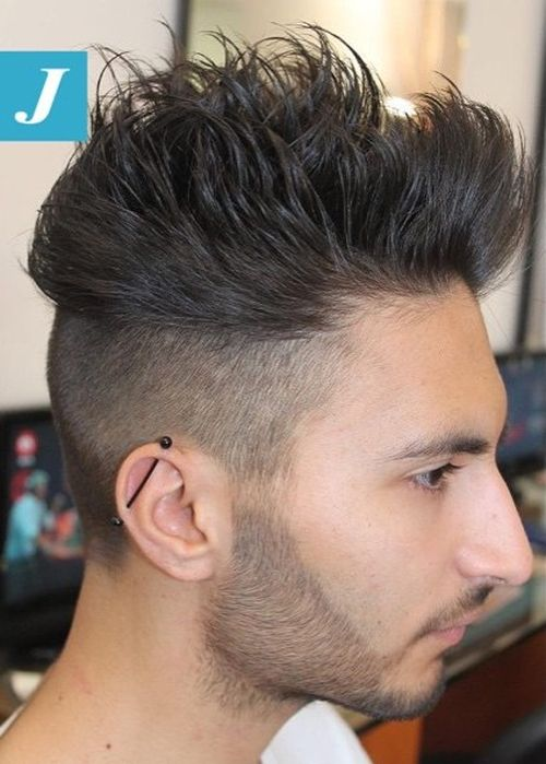 short back long front hairstyles : 40 Ritzy Shaved Sides Hairstyles And Haircuts For Men