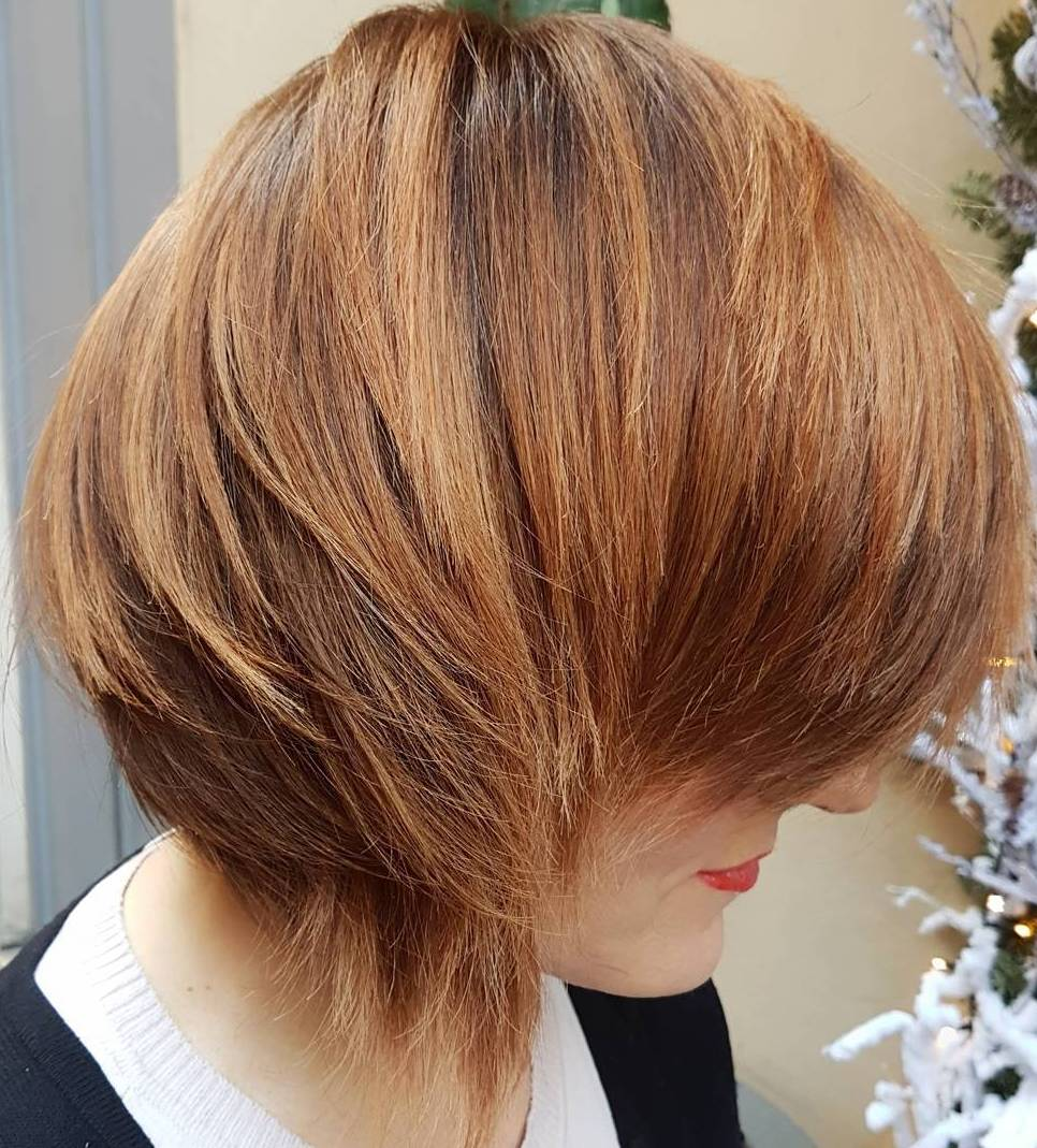 Short Layered Side Part Hairstyle