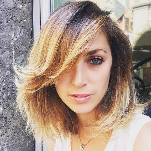 how to get volume in long side bangs
