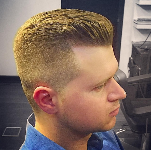 men's layered quiff hairstyle