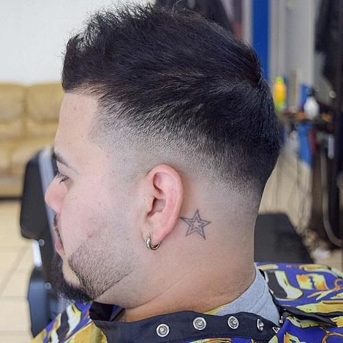 diagonal fade haircut