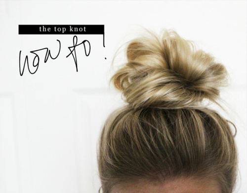 easy messy knot updo for medium hair