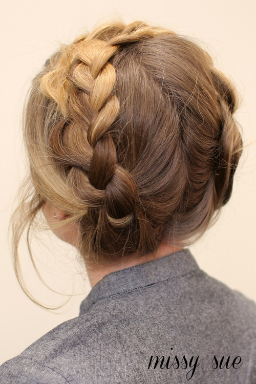 easy braided updo for long hair