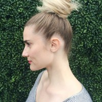 easy messy knot updo for long hair