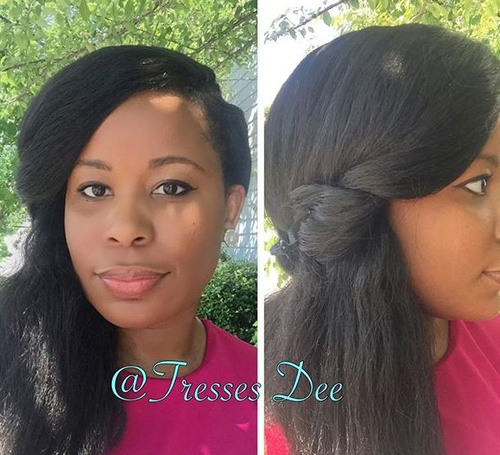 side downdo for African American women