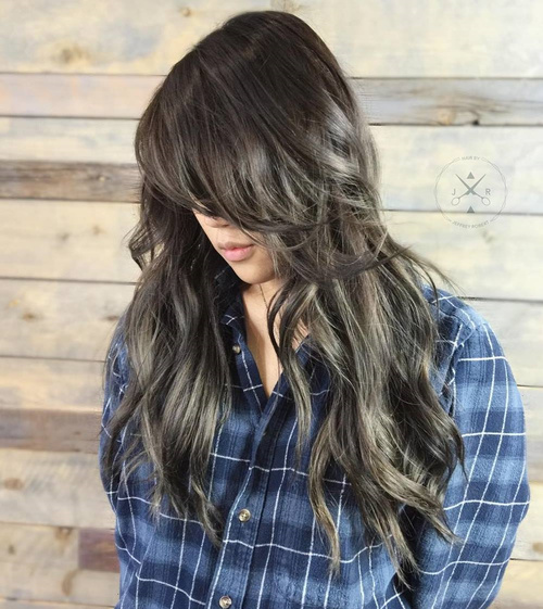 Long Messy Layered Hairstyle