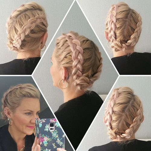 two braids updo