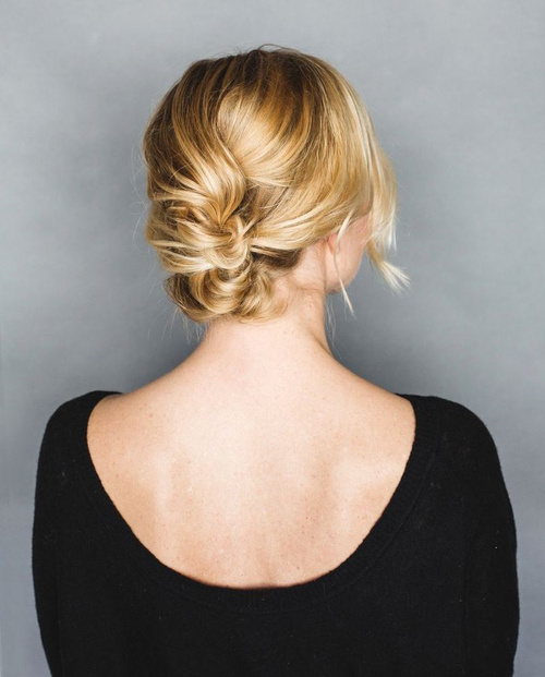 quick french roll updo for curly hair