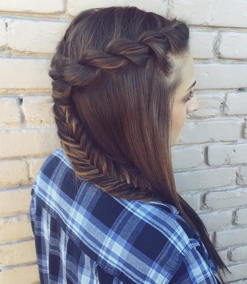 Formal Curly Half Updo With A Bouffant