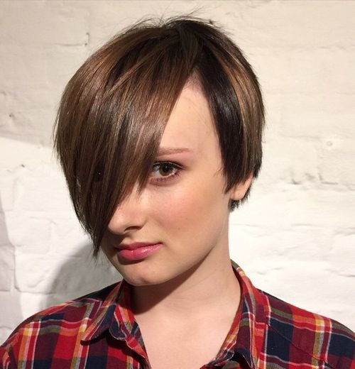 Long Peekaboo Pixie Hairstyle