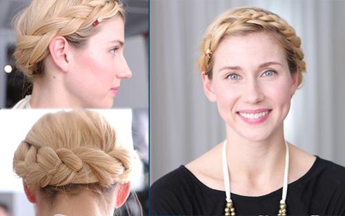 loose hairstyle with headband braid