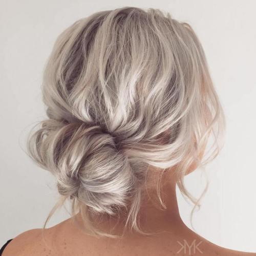 Messy Bun For Wavy Hair