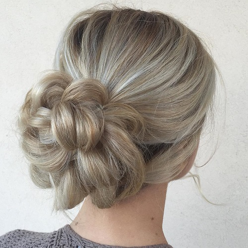 Petal Bun For Blonde Hair