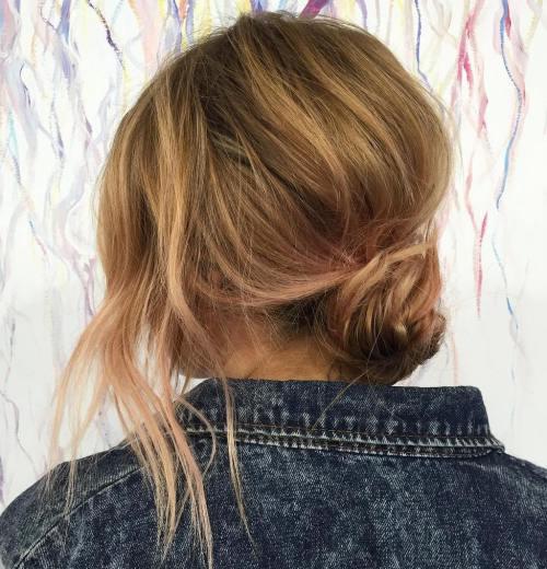 Casual Messy Bun For Shorter Hair