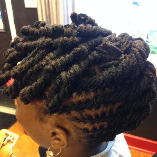 twists updo for black women