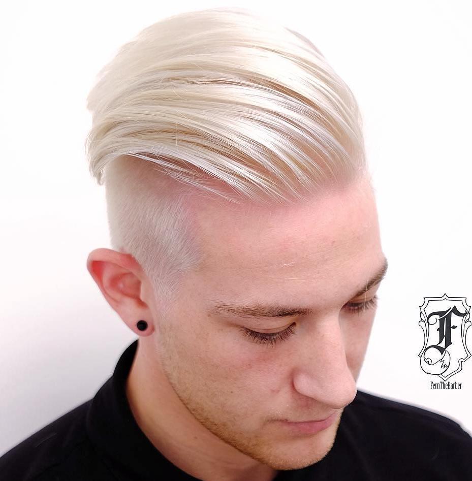 Men's Blonde Undercut Haircut