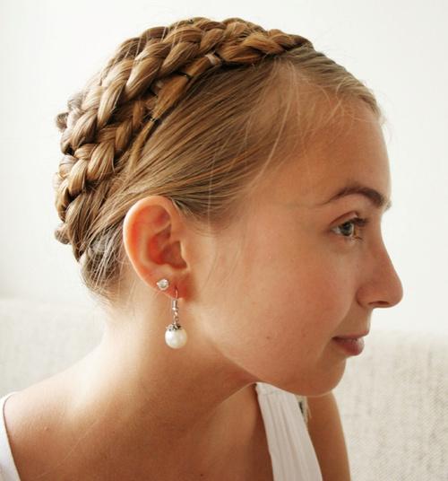casual crown braids