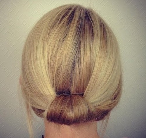 simple updo for short hair