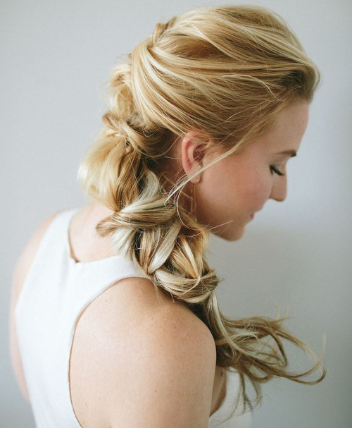 formal updo with textured pony