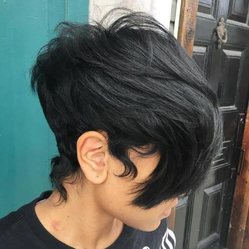 African American Layered Pixie With Bangs
