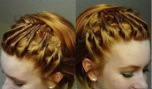lovely updo for short hair with twists