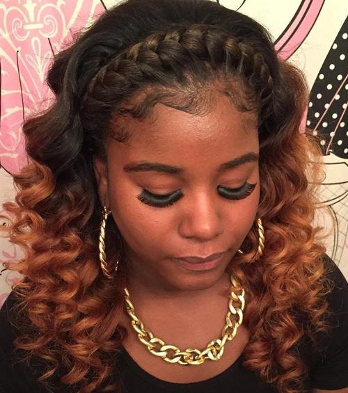 bold and beautiful braided bang
