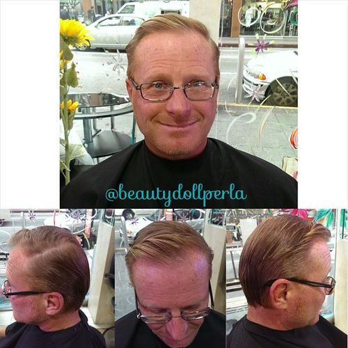 side part hairstyle for older men