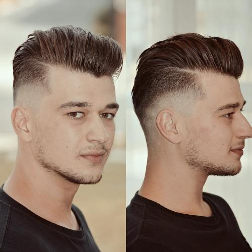Burst Fade Haircut With Long Top