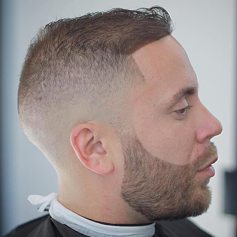 Bald Fade hairstyle with Clean Shape-Up