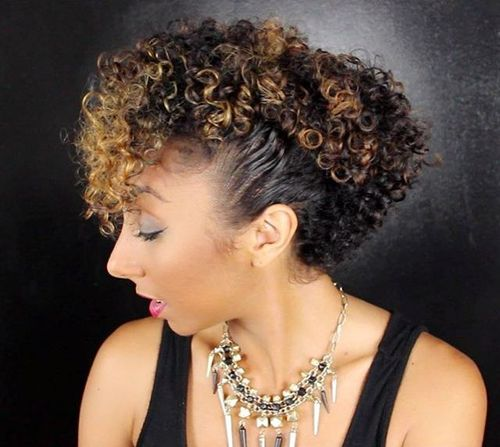 mohawk updo for curly hair