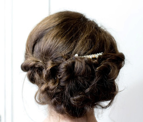 curly vintage updo