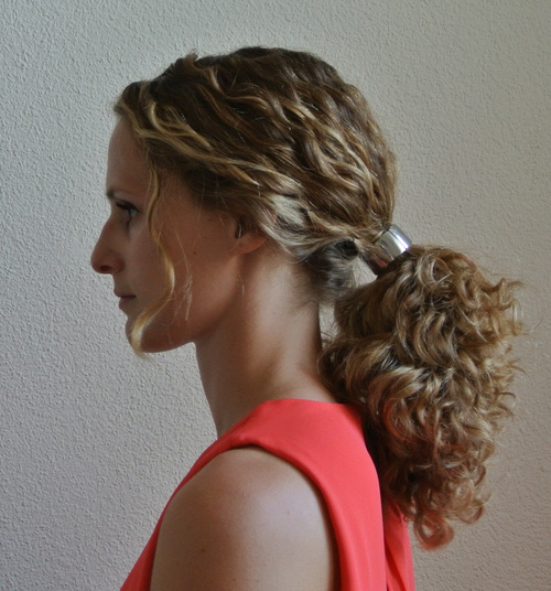 curly pony  hairstyle