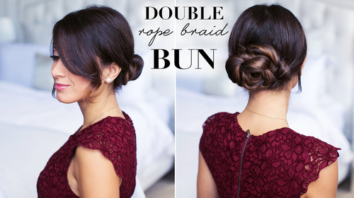 lovely braided bun updo for special occasions
